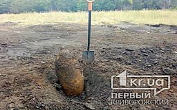 100-килограммовую авиабомбу обнаружили в поле возле Кривого Рога