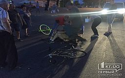 В Кривом Роге водитель на ГАЗ «зацепил» велосипедиста