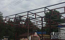 Что строят на площади возле криворожского автовокзала