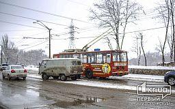 Криворожский троллейбус снова попал в ДТП