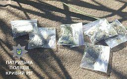 В двух районах Кривого Рога полицейские задержали мужчин с марихуаной