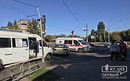 Трое пострадавших в ДТП с маршруткой и Daewoo в Кривом Роге