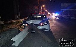 В Кривом Роге авто службы охраны «припарковалось» в отбойник