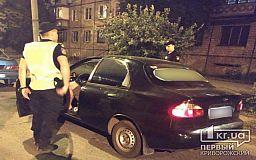Пьяного водителя такси в Кривом Роге остановили патрульные