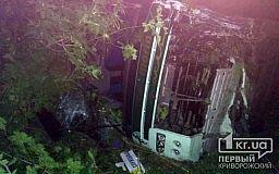 Пострадали 15 человек. На трассе Днепр-Мелитополь пассажирский автобус вылетел в кювет