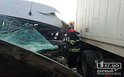 Возле Кривого Рога столкнулись пассажирский автобус и фура, пострадали четыре человека