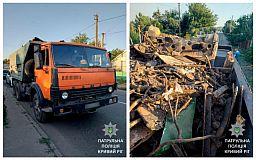 Криворожанин перевозил незаконный металлолом в кузове грузовика