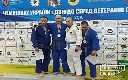 Криворожане завоевали призовые места на чемпионате по дзюдо для ветеранов