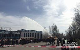 В Кривом Роге из-за пожара из кинотеатра эвакуировали людей, - это учения спасателей