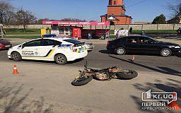 В Кривом Роге мотоциклист влетел в троллейбус, есть пострадавшие