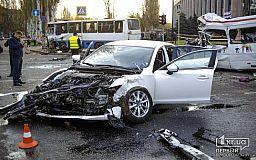 Единственное видео момента столкновения Mazda, маршрутки и автобуса в Кривом Роге