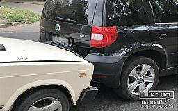 Из-за ДТП на оживленном перекрестке в Кривом Роге образовалась пробка