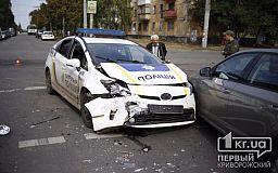 Инспектор полиции и водитель ВАЗа пострадали в ДТП с машиной криворожских патрульных