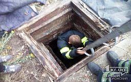 Пожарные спасли криворожанку, которая провалилась в погреб