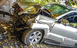 В Кривом Роге Toyota не пропустила ВАЗ и вылетела в дерево
