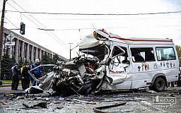 Резонансное ДТП в Кривом Роге: водитель маршрутки не приходит в себя