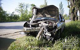 В Кривом Роге парень заснул за рулем легковушки и влетел в дерево