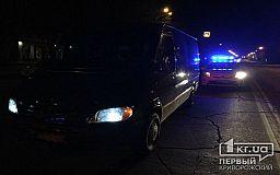 В Кривом Роге грузовой Mercedes сбил человека