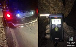 Изрядно пьяный водитель на дорогом авто разъезжал по Кривому Рогу