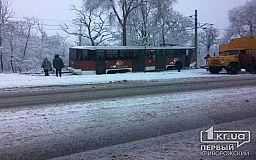 В Кривом Роге с рельсов сошел трамвай