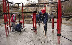 У Кривому Розі Команда Усова почали будувати 20 фітнес-станцій