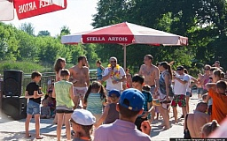 В Кривом Роге состоялось официальное открытие зоны отдыха у воды
