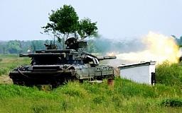 На Днепропетровщине воины-танкисты провели учения с использованием новейшего украинского вооружения