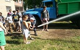 В Кривом Роге для детей провели экскурсии в пожарную часть