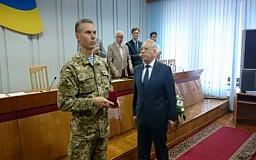 Бойцов батальона «Кривбасс» наградили нагрудными знаками «За заслуги перед городом»