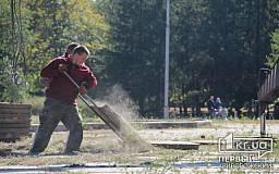 В парке Героев проводят реконструкцию центральной площадки
