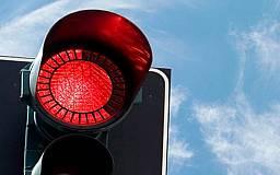Криворожский водитель маршрутки заехал на мост №7 на красный сигнал светофора