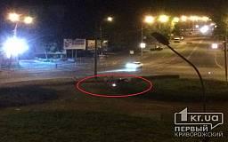 В Кривом Роге водитель авто вылетел на кольцо Автовокзала