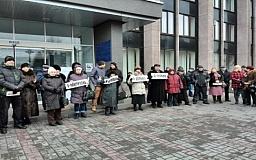 Криворожский майдан провел митинг памяти жертв обстрела в Мариуполе