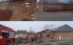В Кривом Роге горело заброшенное здание на территории частного сектора
