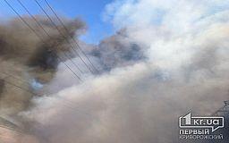 В Кривом Роге участились случаи возгорания сухостоя и стихийных свалок
