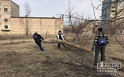 Десятеро криворожан организовали уборку района, на котором живут тысячи людей