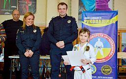 Юні криворізькі спортсмени разом із патрульними підтримали Закон України щодо протидії булінгу