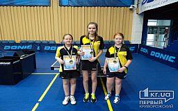 Криворожанки стали чемпионками Украины по настольному теннису