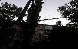 В Кривом Роге ветка тополя застряла на проводах
