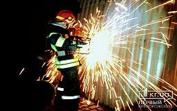 Ночью в Кривом Роге произошел масштабный пожар в ангаре