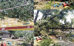 Криворожане обвиняют ДомКом в разрушении детской площадки