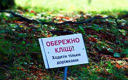 От укусов клещей за полгода пострадали более тысячи жителей Днепропетровской области