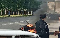 Криворожанин, мотоцикл которого загорелся на ходу, выжил