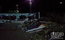 Из-за нерегулярного вывоза мусора Экоспецтрансом, двор одного из криворожских домов превратился в свалку
