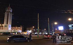 Из-за ДТП на 95 квартале в Кривом Роге образовалась пробка