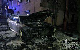Новый BMW Х5 горел в Кривом Роге минувшим вечером