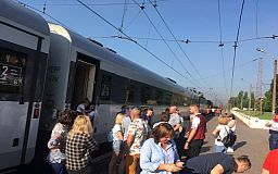 Поезд Интерсити Кривой Рог – Киев больше часа простоял на Червоной