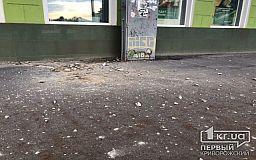 В Кривом Роге рассыпается фасад здания в историческом центре города