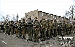 Под музыку оркестра криворожские бойцы вернулись из зоны проведения ООС