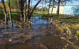 Водоканал оперативно устранил засор канализации возле криворожской балки